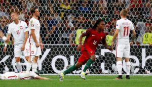Football Soccer - Poland v Portugal - EURO 2016 - Quarter Final - Stade Velodrome, Marseille, France - 30/6/16 Portugal's Renato Sanches celebrates after scoring their first goal REUTERS/Kai Pfaffenbach Livepic - RTX2J3ZB