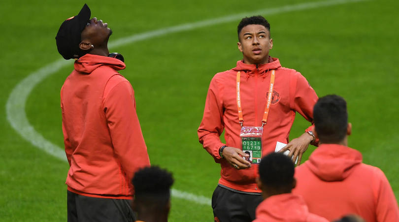 Manchester United duo Paul Pogba and Jesse Lingard