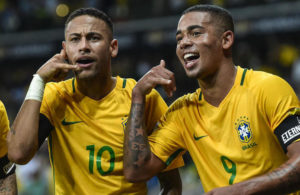 Brazilian duo Neymar and Gabriel Jesus