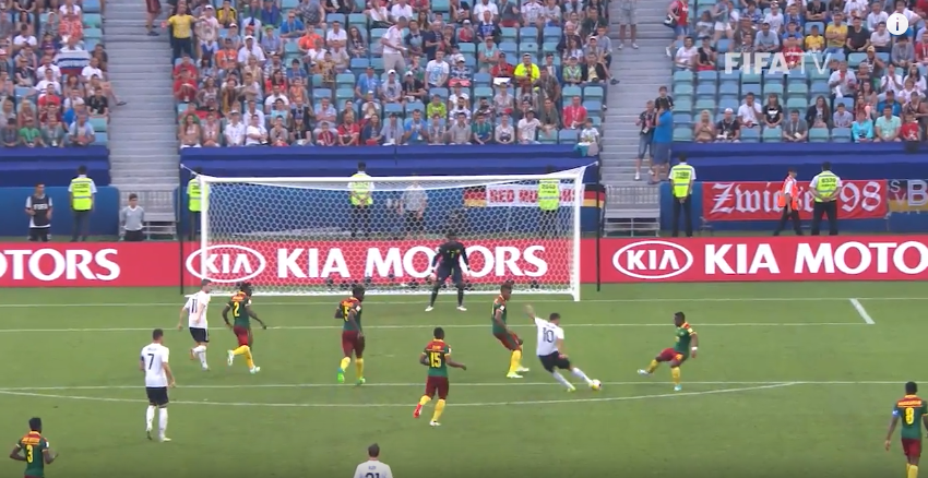 Germany vs Cameroon in the Confederations Cup