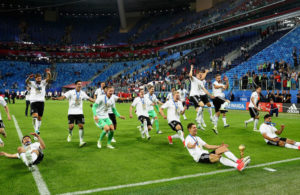 Germany celebrating their Confederations Cup triumph