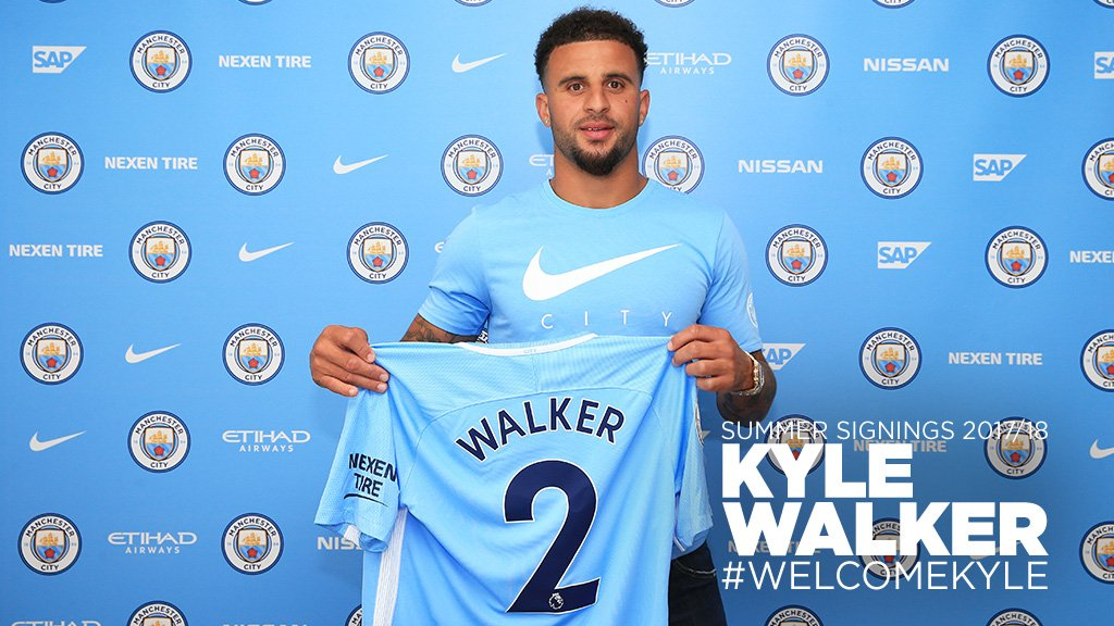 Manchester City's new signing Kyle Walker