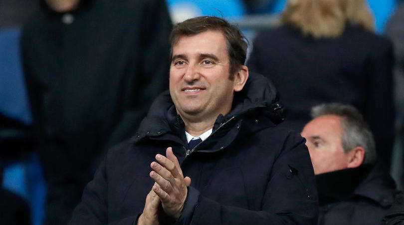 Manchester City Chief Executive Officer Ferran Soriano in the stands before the Premier League match at the Etihad Stadium, Manchester.