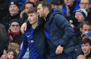Frank Lampard and Billy Gilmour of Chelsea