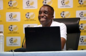 David Notoane, Olympics Men's coach during the SAFA Olympic press conference at Safa House,